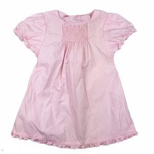 Baby Gap Smocked Pink White Polka Dot Dress 3-6 Mo